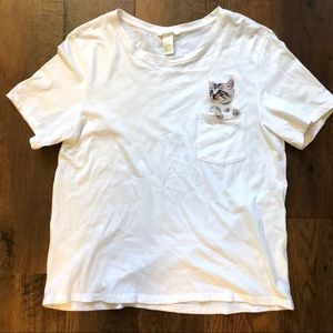 H&M cat in pocket tee shirt